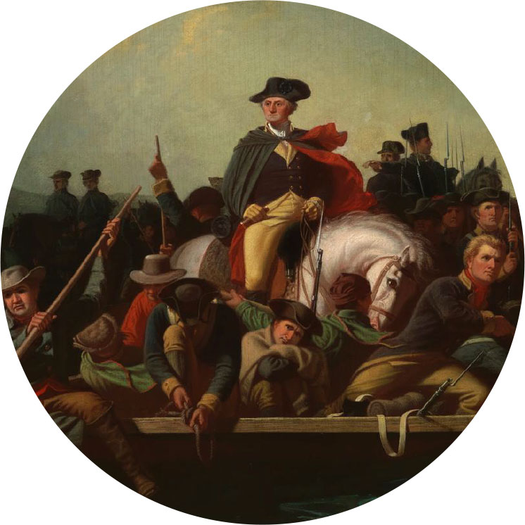 Painting of Washington Crossing the Delaware - Why Central Jersey?
