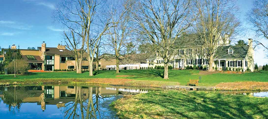 Accommodations in Central New Jersey. A landscape view of the beautiful Chauncey Hotel & Conference Center
